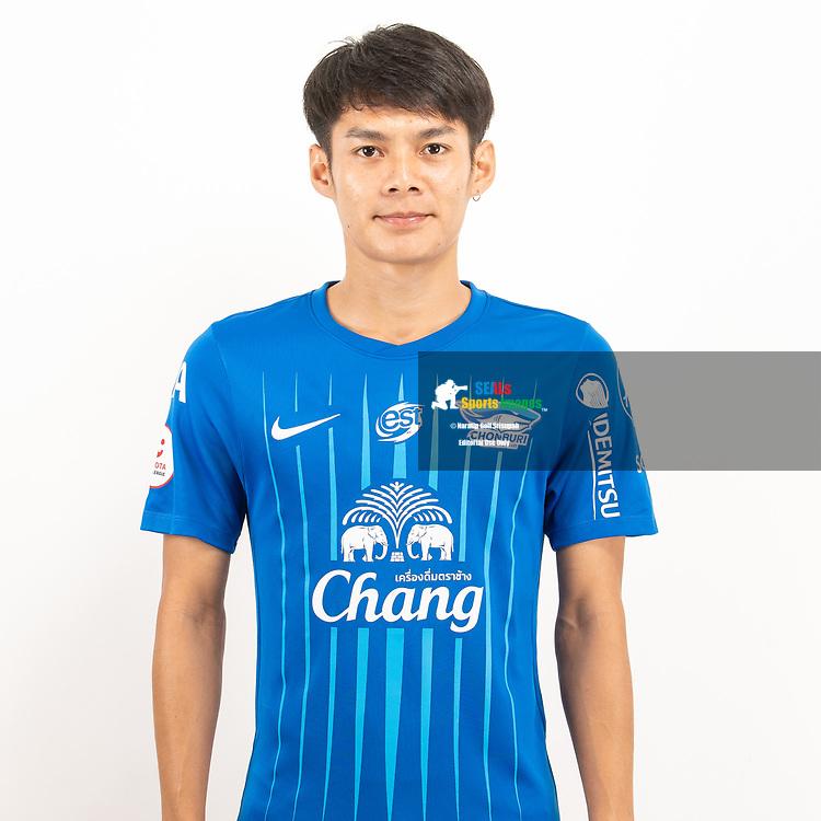 THAILAND - JUNE 11: Phanuphong Phonsa #24 of Chon Buri FC on June 11, 2019.<br /> .<br /> .<br /> .<br /> (Photo by: Naratip Golf Srisupab/SEALs Sports Images/MB Media Solutions)