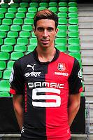 Vincent PAJOT - 15.09.2014 - Photo officielle Rennes - Ligue 1 2014/2015<br /> Photo : Philippe Le Brech / Icon Sport