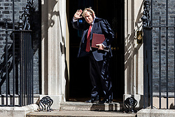 © Licensed to London News Pictures. 21/07/2020. London, UK. Prime Minister Boris Johnson returns to Downing Street after the Cabinet meeting. The Intelligence and Security Committee has published the long-delayed report on Russia's influence over UK politics. Photo credit: Rob Pinney/LNP
