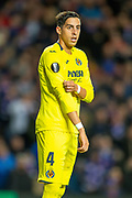 Ramiro Funes Mori (#4) of Villarreal CF during the Europa League group stage match between Rangers FC and Villareal CF at Ibrox, Glasgow, Scotland on 29 November 2018.