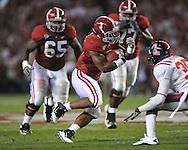 Alabama running back Trent Richardson (3) at Bryant-Denny Stadium in Tuscaloosa, Ala.  on Saturday, October 16, 2010. Alabama won 23-10.