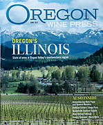 Oregon Wine Press June 2017 cover featuring Oregon's Illinois Valley  with a stunning view of the Siskiyou Mountains from Deer Cree Vineyards.