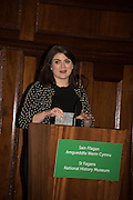 FFION EMYR, An evening of entertainment at St James Court in support of the redevelopment of St Fagans National History Museum. In the spirit of the court of Llywelyn the Great . St. James Court Hotel. London. 17 September 2015<br />  <br /> Noson o adloniant yn St James Court i gefnogi ail-ddatblygiad Sain Ffagan Amgueddfa Werin Cymru