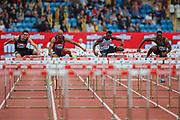 Men's 110m Hurdles heat 1 during the Muller Grand Prix 2018 at Alexander Stadium, Birmingham, United Kingdom on 18 August 2018. Picture by Toyin Oshodi.