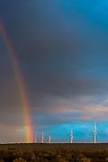 Rainbow over the Sere Wind Farm
