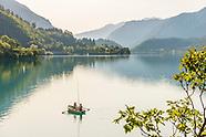 Lago di Ledro, Tenno, Molveno. Three lakes in West Trentino, Italy