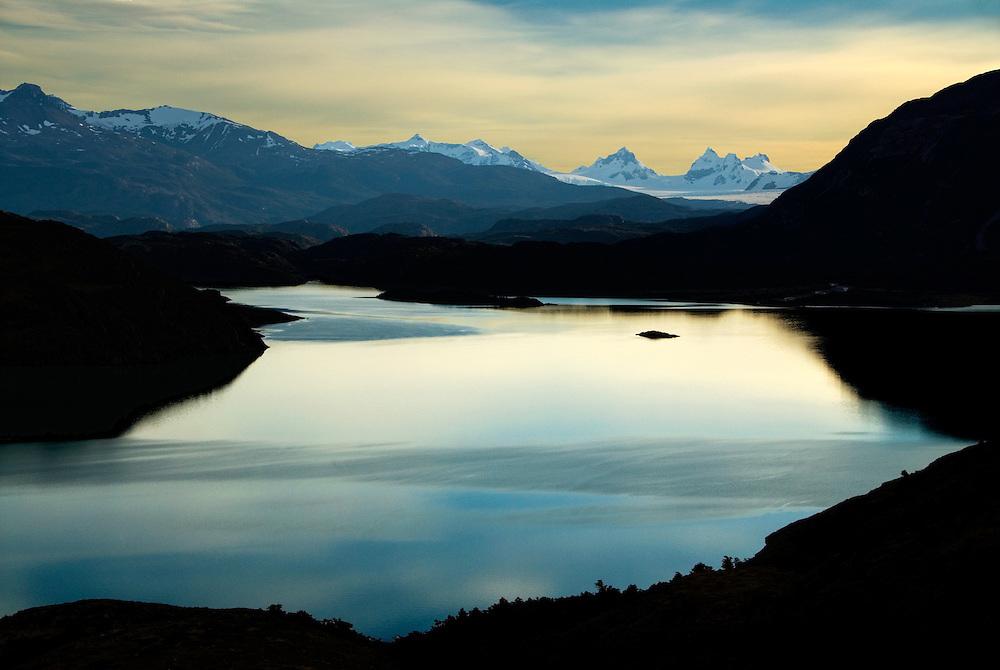 Lake Nordenskjold and the Balmaceda Range, Torres Del Paine National Park, Patagonia, Chile.