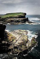Coast of Mainland Orkney Islands Scotland near Yesnaby