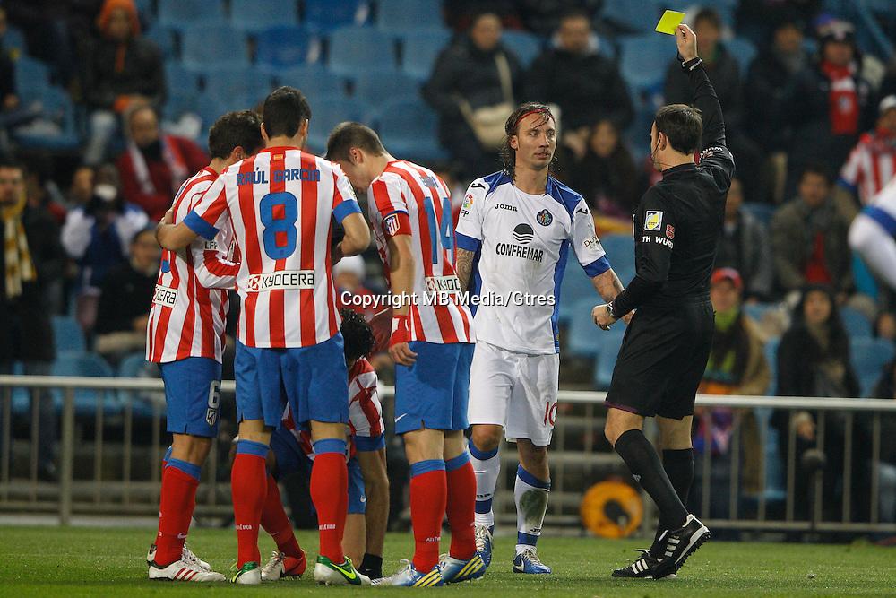 12.12.2012 SPAIN - Copa del Rey 12/13 Matchday 8th  match played between Atletico de Madrid vs Getafe C.F. (3-0) at Vicente Calderon stadium. The picture show Jaime Gavilan Martinez (Midfielder of Getafe)