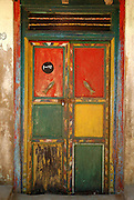 Door to a home in Pudukuppam, South India. 2006