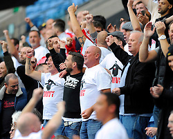 """Bristol City fans pay their respect to Mark """"Divy"""" Saunders who's funeral was in the week - Photo mandatory by-line: Joe Meredith/JMP - Mobile: 07966 386802 - 18/10/2014 - SPORT - Football - Coventry - Ricoh Arena - Bristol City v Coventry City - Sky Bet League One"""