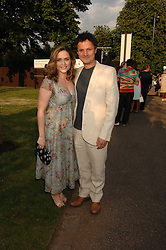 Artist JONATHAN YEO and SHEBAH RONAY at the annual Serpentine Gallery Summer Party in association with Swarovski held at the gallery, Kensington Gardens, London on 11th July 2007.<br />