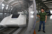 CHENGDU, CHINA - MAY 02: (CHINA OUT) <br /> <br /> Manufacturer Unveils Maglev Vehicle <br /> <br /> General view of a Maglev vehicle is seen at Southwest Jiaotong University on May 2, 2014 in Chengdu, Sichuan Province of China. The vehicle was first tested successfully by the Applied Superconductivity Laboratory of China's Southwest Jiaotong University  and China is the only country apart from Germany to master this technology. <br /> ©Exclusivepix
