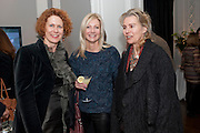 ANN MACGREGOR; SIGRID WILKINSON; KATHERINE DEGHER, MCA Sydney cocktails. Brandon rooms. ICA. London. 11 October 2011. <br /> <br />  , -DO NOT ARCHIVE-© Copyright Photograph by Dafydd Jones. 248 Clapham Rd. London SW9 0PZ. Tel 0207 820 0771. www.dafjones.com.
