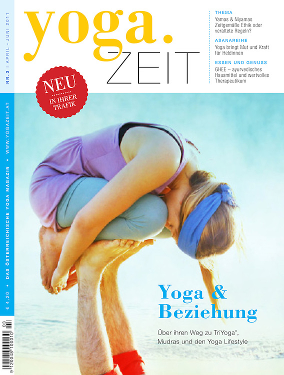 Yoga Zeit is a European Yoga Magazine that has been usid Wari's Photography several times