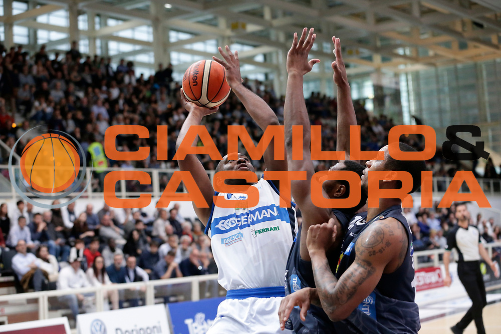 Marcus Landry<br /> Dolomiti Energia Aquila Basket Trento - Germani Basket Brescia Leonessa<br /> Lega Basket Serie A 2016/2017<br /> PalaTrento 23/04//2017<br /> Foto Ciamillo-Castoria / M. Brondi