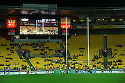 Hurricanes first five Aaron Cruden kicks a penalty. Super 15 rugby match - Hurricanes v Lions at Westpac Stadium, Wellington, New Zealand on Saturday, 4 June 2011. Photo: Dave Lintott / photosport.co.nz