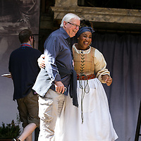The Heresy of Love by Helen Edmundson;<br /> Director John Dove with<br /> Sophia Nomvete (as Juanita);<br /> Shakespeare's Globe Theatre, London, UK;<br /> 4th August 2015