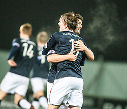 Falkirk's Stewart Murdoch celebrates with Falkirk's David Weatherston, after scoring their goal..Falkirk 1 v 1 Raith Rovers, 5/3/2013.