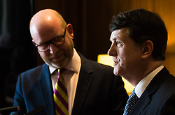 Westminster, London, March 27th 2017. Ahead of the Prime Minister triggering Article 50 next week, UKIP Leader Paul Nuttall sets out six key tests by which the country can judge Theresa May's Brexit negotiations in a keynote speech in London. PICTURED: Gerard Batten CREDIT: ©Paul Davey<br /> <br /> ©Paul Davey<br /> FOR LICENCING CONTACT: Paul Davey +44 (0) 7966 016 296 paul@pauldaveycreative.co.uk