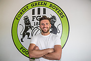 James Montgomery signing for Forest Green Rovers at the New Lawn, Forest Green, United Kingdom on 23 May 2018. Picture by Shane Healey.