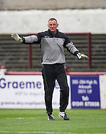 Former Dundee, Celtic and Scotland keeper Rab Douglas was on the bench for Arbroath after signing a short term deal ahead of the Scottish Cup tie - Arbroath v Stirling University FC, William Hill Scottish Cup Second Round at Gayfield, Arbroath. Photo: David Young<br /> <br />  - &copy; David Young - www.davidyoungphoto.co.uk - email: davidyoungphoto@gmail.com