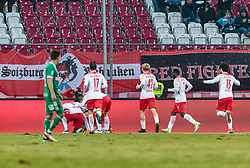 04.03.2018, Red Bull Arena, Salzburg, AUT, 1. FBL, FC Red Bull Salzburg vs SK Rapid Wien, 25. Runde, im Bild Torjubel Red Bulls nach dem 1:0 Treffer durch Valon Berisha (FC Red Bull Salzburg) // during Austrian Football Bundesliga 25th round Match between FC Red Bull Salzburg and SK Rapid Wien at the Red Bull Arena, Salzburg, Austria on 2018/03/04. EXPA Pictures © 2018, PhotoCredit: EXPA/ JFK