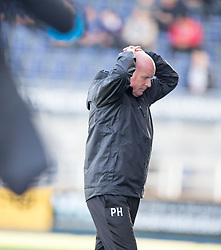 Falkirk's manager Peter Houston. <br /> Falkirk 1v 1 Dumbarton, Scottish Championship game played 20/9/2014 at The Falkirk Stadium .
