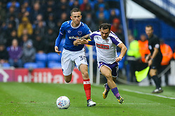 Jon Taylor of Rotherham United under pressure from Adam May of Portsmouth - Mandatory by-line: Jason Brown/JMP - 03/09/2017 - FOOTBALL - Fratton Park - Portsmouth, England - Portsmouth v Rotherham United - Sky Bet League Two
