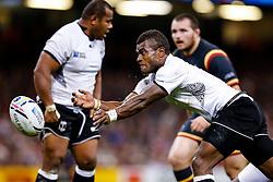 Fiji Scrum-Half Nemia Kenatale in action - Mandatory byline: Rogan Thomson/JMP - 07966 386802 - 01/10/2015 - RUGBY UNION - Millennium Stadium - Cardiff, Wales - Wales v Fiji - Rugby World Cup 2015 Pool A.