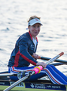 Caversham, Reading, Great Britain, GBR LW1X. Imoagen WALSH, pushing away from the pontoon at the GBRowing Training Session, Water and Gym/Ergo, at the National Training Base, Berkshire, England.<br /> <br /> Wednesday  18/11/2015<br /> <br /> [Mandatory Credit; Peter Spurrier/Intersport-images]