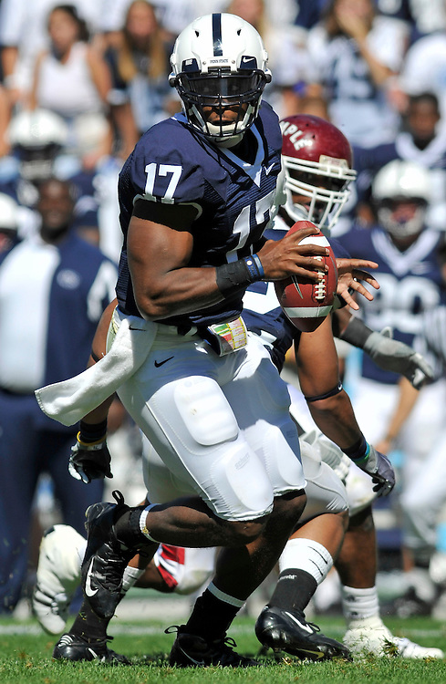 Sept 19, 2009; State College, PA, USA; Penn State quarterback Daryll Clark (17) during the second half against Temple at Beaver Stadium. Penn State beat Temple 31-6. Mandatory Credit: Jason Miller-US PRESSWIRE