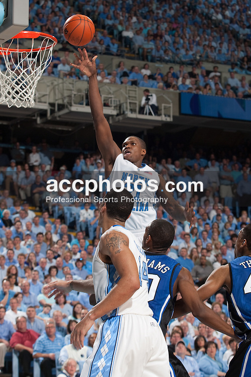 08 March 2009: North Carolina Tar Heels forward Deon Thompson (21) during a 79-71 win over the Duke Blue Devils at the Dean Smith Center in Chapel Hill, NC.