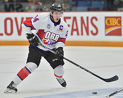Ty Smith of the Spokane Chiefs represents Team Or r in the 2018 Sherwin-Williams CHL / NHL Top Prospects Game held in Guelph,ON on Thursday January 25. Photo by Terry Wilson / CHL Images.