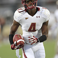Boston College cornerback Donnie Fletcher (4) during an NCAA football game between the Boston College Eagles and the UCF Knights at Bright House Networks Stadium on Saturday, September 10, 2011 in Orlando, Florida. (AP Photo/Alex Menendez)
