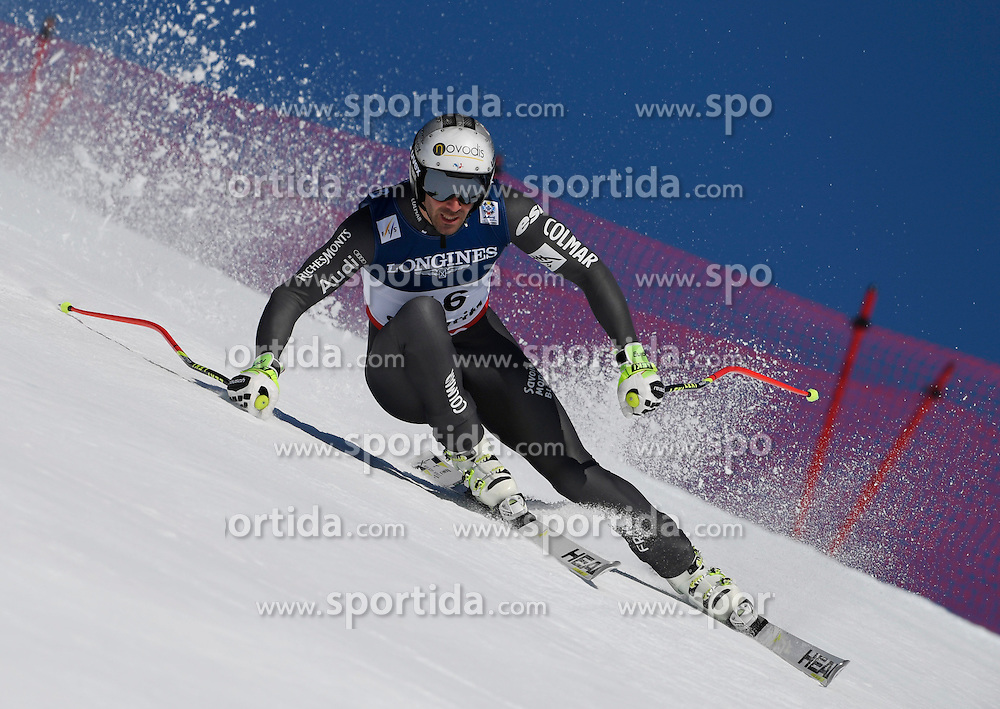 13.02.2017, St. Moritz, SUI, FIS Weltmeisterschaften Ski Alpin, St. Moritz 2017, alpine Kombination, Herren, Abfahrt, im Bild Adrien Theaux (FRA) // Adrien Theaux of France in action during his run of downhill for the men's Alpine combination of the FIS Ski World Championships 2017. St. Moritz, Switzerland on 2017/02/13. EXPA Pictures &copy; 2017, PhotoCredit: EXPA/ Sammy Minkoff<br /> <br /> *****ATTENTION - OUT of GER*****