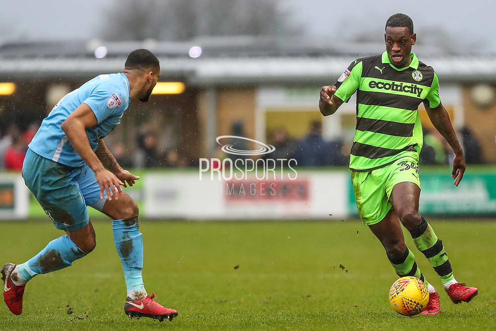 Forest Green Rovers Isaiah Osbourne(34) during the EFL Sky Bet League 2 match between Forest Green Rovers and Coventry City at the New Lawn, Forest Green, United Kingdom on 3 February 2018. Picture by Shane Healey.