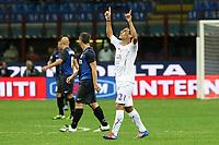 """Esultanza Romulo Fiorentina<br /> Goal Celebration<br /> Milano 30/09/2012 Stadio """"San Siro""""<br /> Football Calcio Serie A 2012/13<br /> Inter v Fiorentina<br /> Foto Insidefoto Paolo Nucci"""