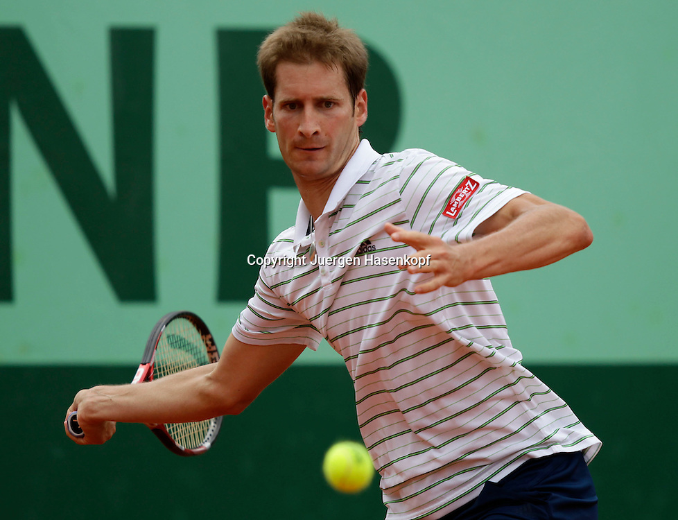 French Open 2011, Roland Garros,Paris,ITF Grand Slam Tennis Tournament .Florian Mayer (GER),.Einzelbild,Aktion,