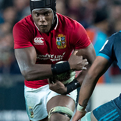 Maro Itoje, Eden Park, Auckland game 2 of the British and Irish Lions 2017 Tour of New Zealand,The match between the Auckland Blues and British and Irish Lions, Wednesday 7th June 2017   <br /> <br /> (Photo by Kevin Booth Steve Haag Sports)<br /> <br /> Images for social media must have consent from Steve Haag