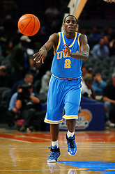 Nov 21, 2008; New York, NY, USA; UCLA Bruins guard Darren Collison (2) makes a pass during second half action of the 2K Sports Classic consolation game at Madison Square Garden. UCLA defeated Southern Illinois 77-60.