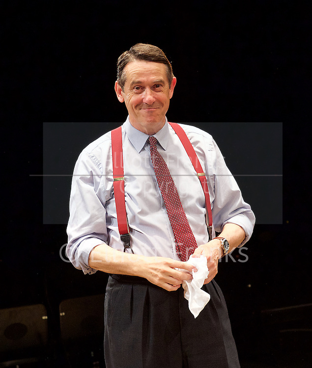 Orson&rsquo;s Shadow by Austin Pendleton<br /> at Southwark Playhouse, London, Great Britain <br /> press photocall <br /> 1st July 2015 <br /> <br /> Adrian Lukis as Laurence Olivier<br /> <br /> <br /> Photograph by Elliott Franks <br /> Image licensed to Elliott Franks Photography Services