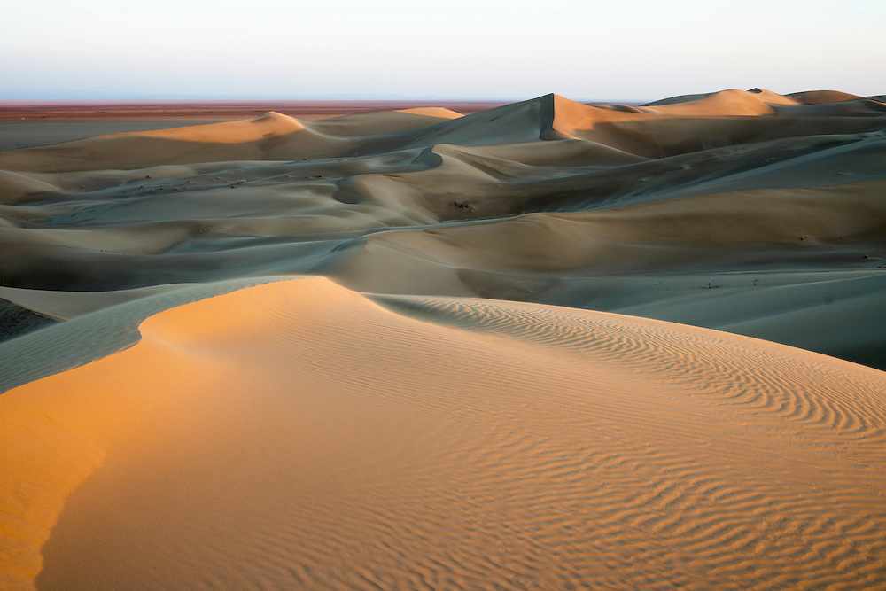 Varzaneh desert in central Iran. The average height of sandy dunes are highest between deserts of Iran