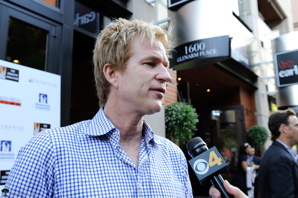 August 27, 2008 - Actor Matthew Modine talks to the media prior to attending the Spotlight Initiative Award Morning Reception Honoring Annette Bening during the 2008 Democratic National Convention in Denver.