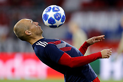 Arjen Robben of FC Bayern Munchen during the UEFA Champions League group E match between Bayern Munich and Ajax Amsterdam at the Allianz Arena on October 02, 2018 in Munich, Germany