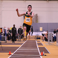 Shane Patmore in action during the 2018 Canada West Track & Field Championship on February  23 at James Daly Fieldhouse. Credit: Arthur Ward/Arthur Images