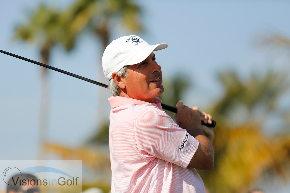 Fred Couples<br /> Omega Dubai Desert Classic, Emirates GC, UAE, January 2014<br /> Picture Credit:  Mark Newcombe / www.visionsingolf.com