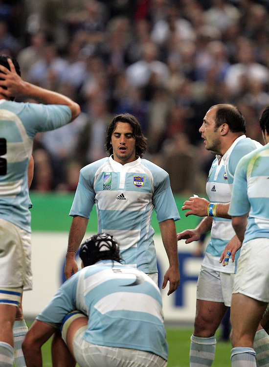 A dejected Augustin Pichot after Scotland score a try. Argentina v Scotland (19 - 13) Stade de France, St Dennis, 07/10/2007, Quarter Final Match 44. Rugby World Cup 2007..