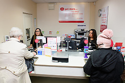Pictured is Davina Singadia, left, and subpostmistress Angelina Singadia serving customers<br /> <br /> Gill Furniss, MP for Brightside and Hillsborough, visited Margetson Crescent Post Office, Sheffield to meet subpostmistress Angelina Singadia and her team.<br /> <br /> Date: December 8, 2017