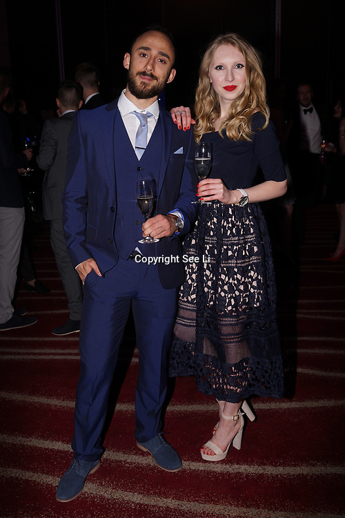 Westminster, UK. 20th Apr, 2017. Antonio Marakovic & Valentina Balgavi - world through the camera girl attends The annually National UK Blog Awards at Park Plaza Westminster Bridge, London. by See Li